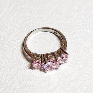Jewelry - 3CT Pink Sapphire 925 Solid Sterling Silver Ring